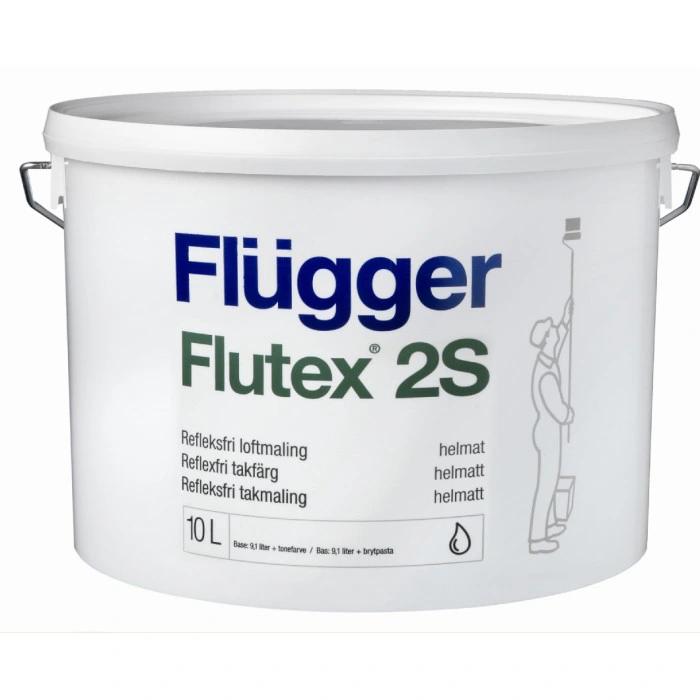Flugger farba antyrefleksyjna FLUTEX 2S BIAŁA 10 L