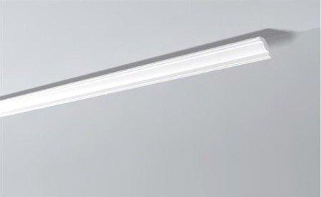 LISTWY PRZYSUFITOWE Białe NOMASTYL J 45x50mm
