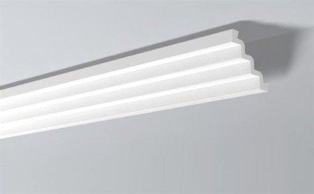 LISTWY PRZYSUFITOWE Białe NOMASTYL ST4 130x130mm