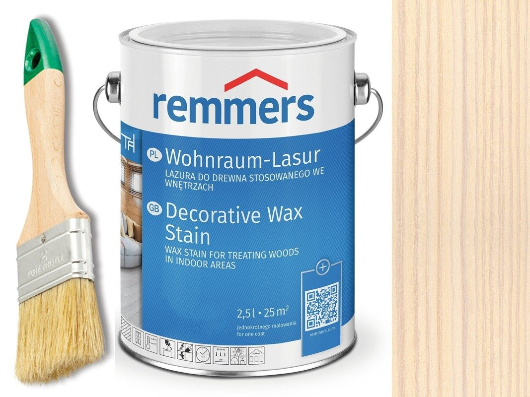 Lazura woskowa Remmers do wnętrz 2,5 L BIAŁY