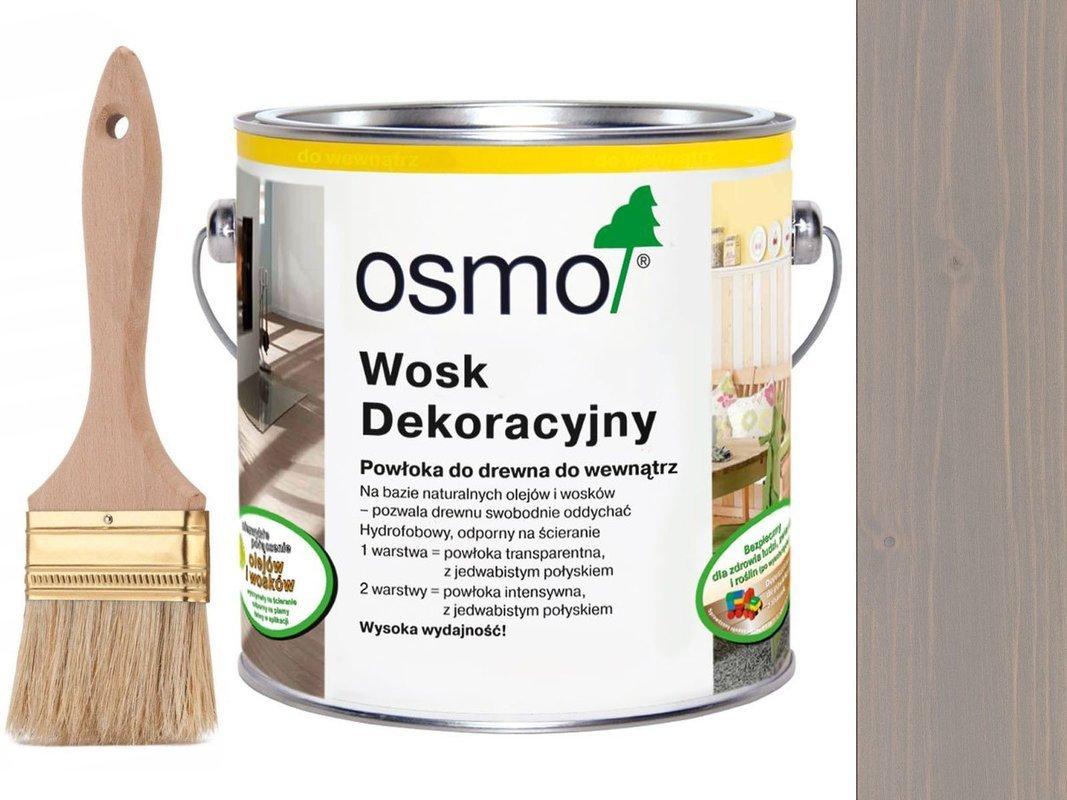 OSMO 3119 wosk dekoracyjny JEDWABISTY SZARY 0,75L