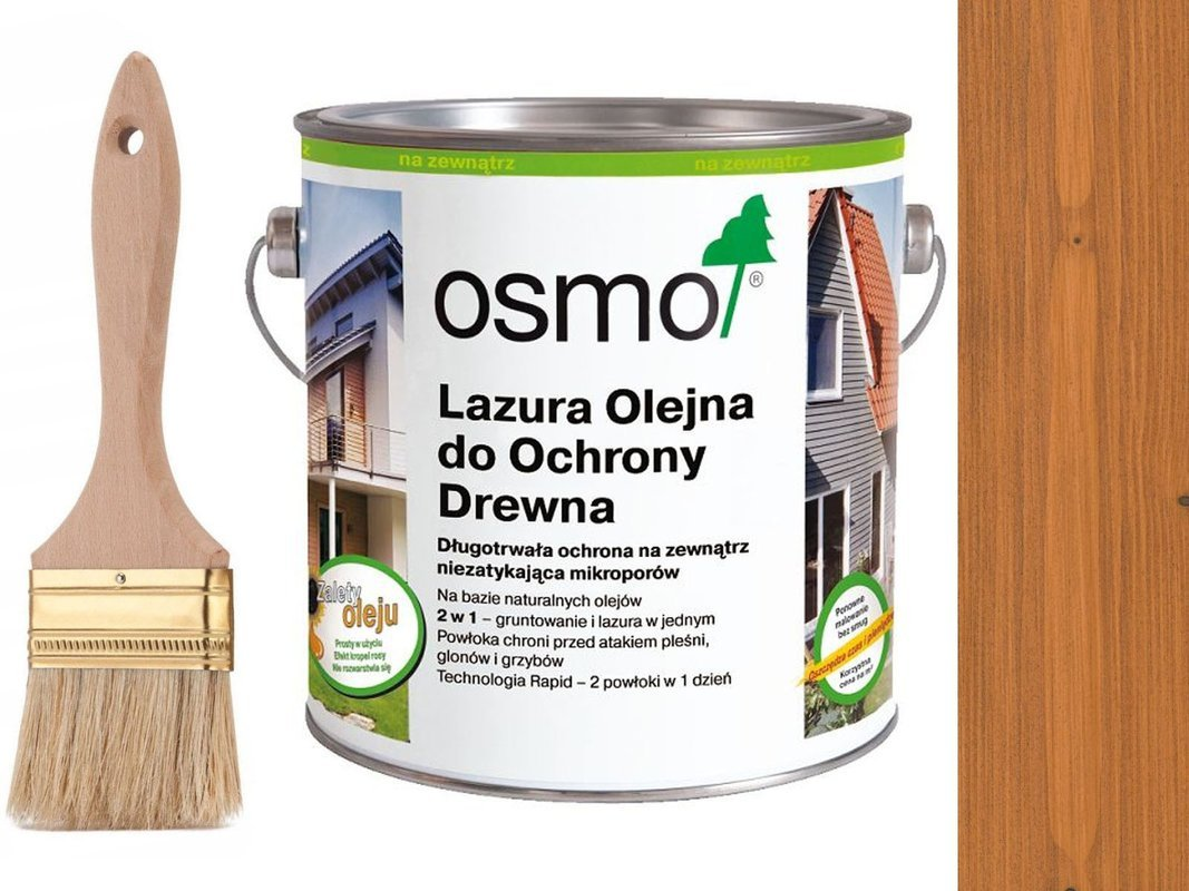 OSMO 728 Lazura Ochronna do drewna CEDR 0,75L