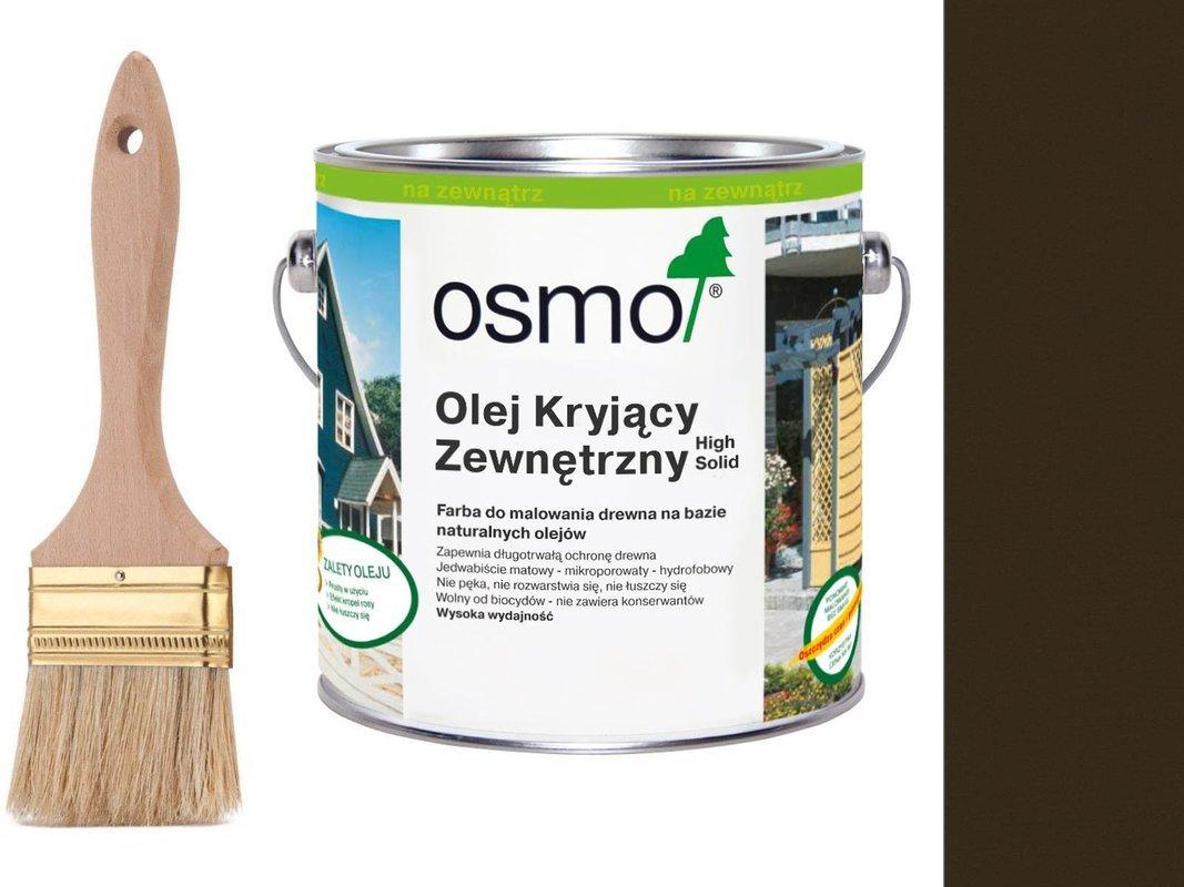 OSMO Olej Kryjący 2607 CIEMNY BRĄZ 2,5L + GRATIS