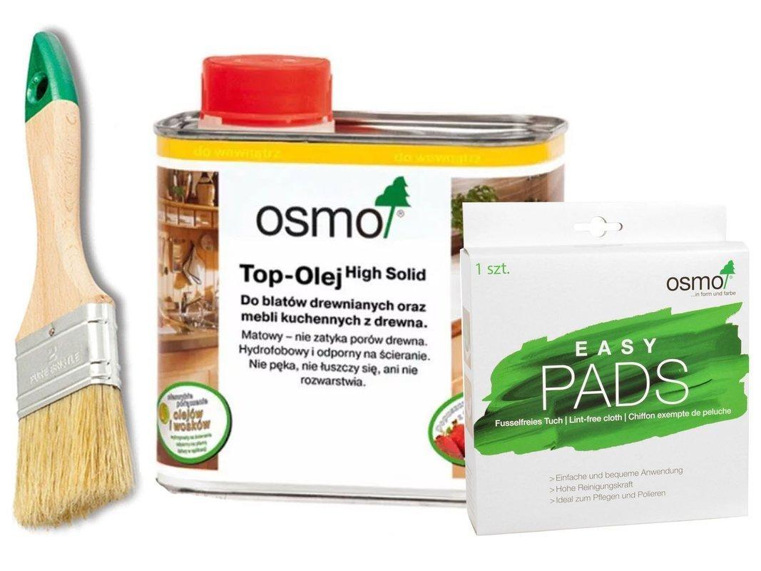 OSMO TOP olej do BLATÓW 3037 + EASY PADS + PĘDZEL